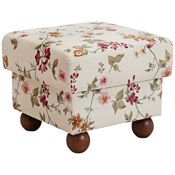 Hocker Monarch Flachgewebe floral