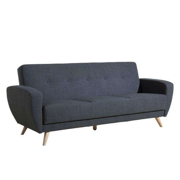 Sofa 3-Sitzer mit Bettfunktion Jerry Flachgewebe