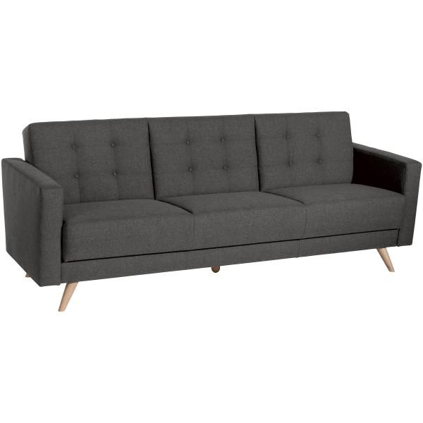 Sofa 3-Sitzer mit Bettfunktion Julian Flachgewebe