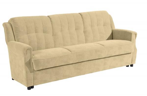Sofa 3-Sitzer mit Bettfunktion Moldau Microfaser