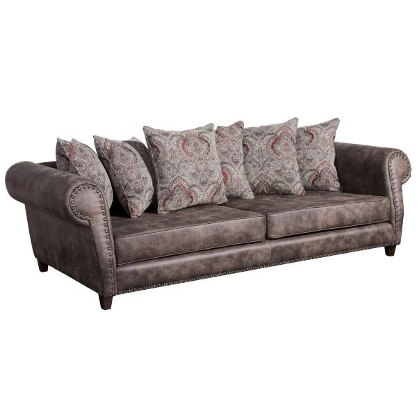 Sofa 3-Sitzer Safira Microfaser/Chenille