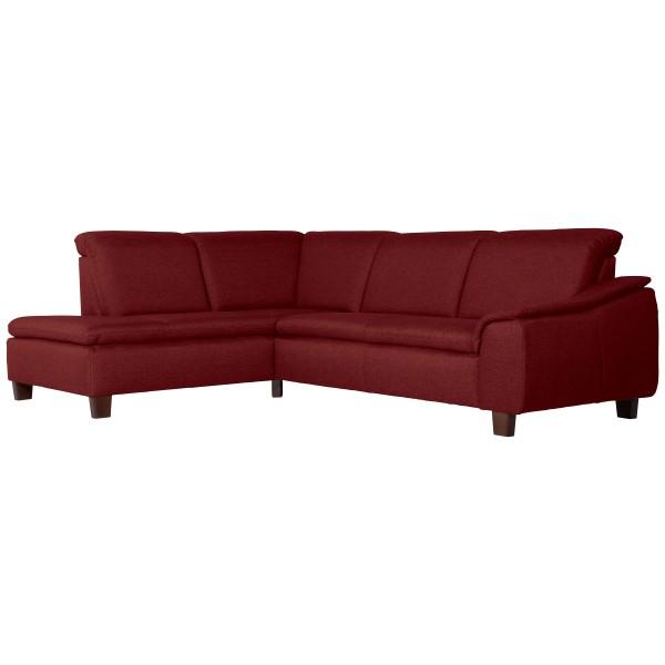 Ecksofa Aaron Flachgewebe Leinenoptik wahlweise links oder rechts mit Sofa 2,5-Sitzer