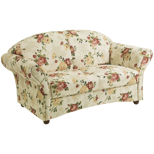 Sofa 2-Sitzer Corona Flachgewebe floral