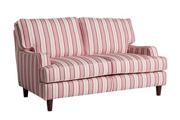 Sofa 2-Sitzer Pete Flachgewebe gestreift