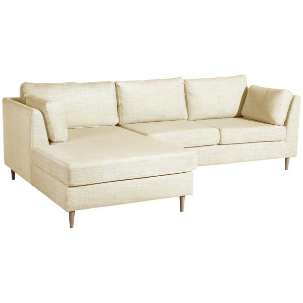 Ecksofa Louisana Chenille wahlweise links oder rechts mit Sofa 2-Sitzer