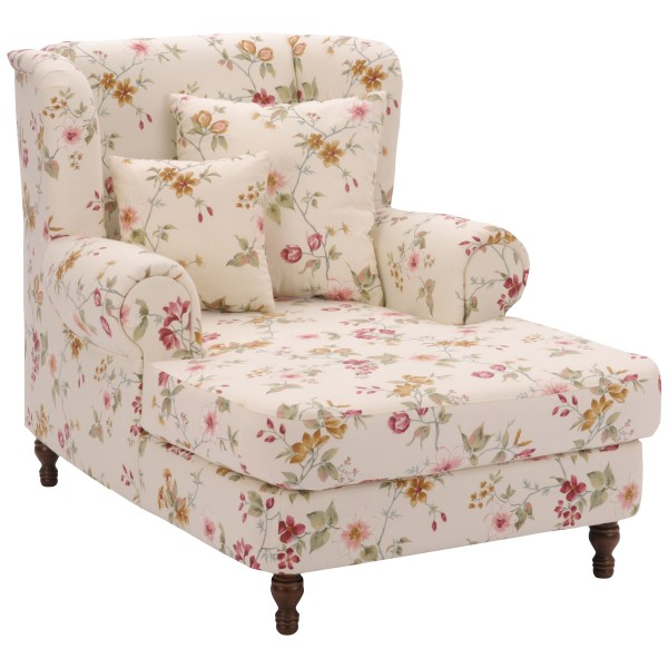 Big-Sessel Mareille Flachgewebe floral