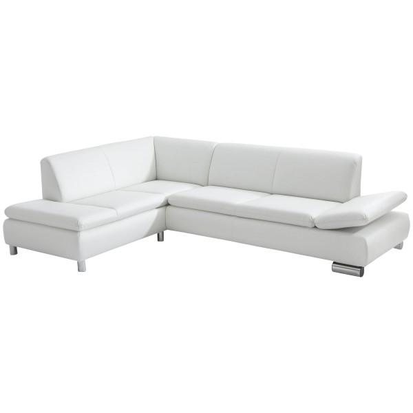 Ecksofa Terrence wahlweise links oder rechts mit Sofa 2,5-Sitzer Kunstleder
