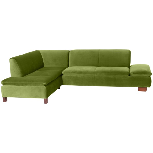 Ecksofa Terrence wahlweise links oder rechts mit Sofa 2,5-Sitzer Samtvelours