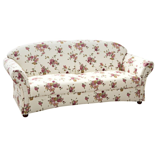 Sofa 2,5-Sitzer Corona Flachgewebe floral