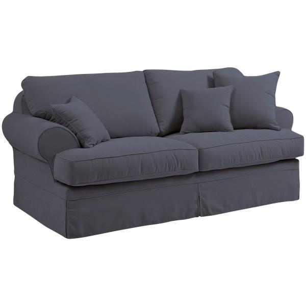 Sofa 2-Sitzer Hermine Flachgewebe inkl. Zierkissen