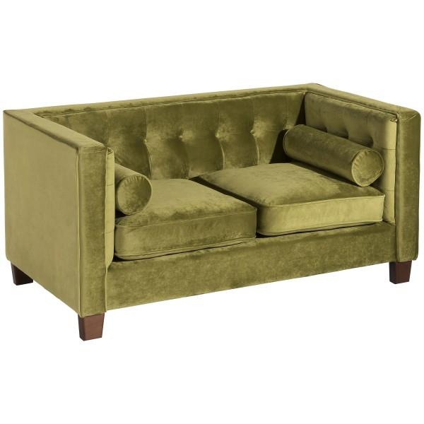 Sofa 2-Sitzer Jobbia Samtvelours