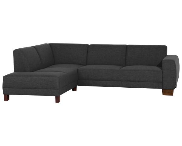Ecksofa Blackpool wahlweise links oder rechts mit Sofa 2,5-Sitzer Flachgewebe Leinenoptik