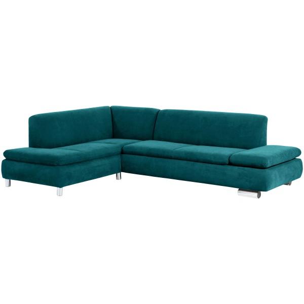 Ecksofa Terrence wahlweise links oder rechts mit Sofa 2,5-Sitzer Flachgewebe