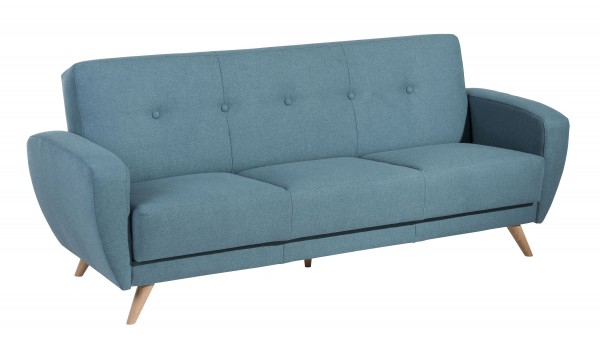 Sofa 3-Sitzer mit Bettfunktion Jerry Microfaser (Filz-Optik)