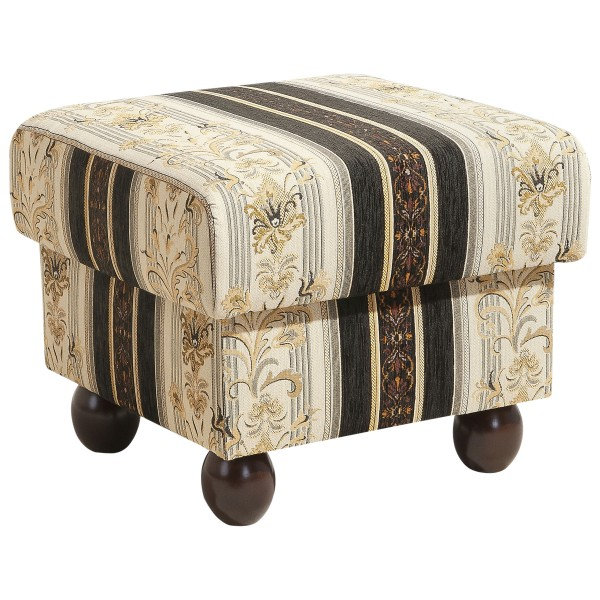 Hocker Monarch Chenille gestreift