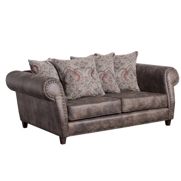 Sofa 2-Sitzer Safira Microfaser/Chenille