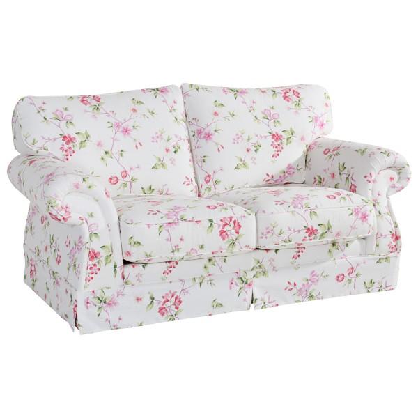 Sofa 2-Sitzer Mina Flachgewebe floral