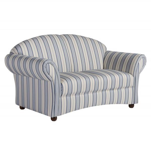 Sofa 2-Sitzer Corona Flachgewebe gestreift