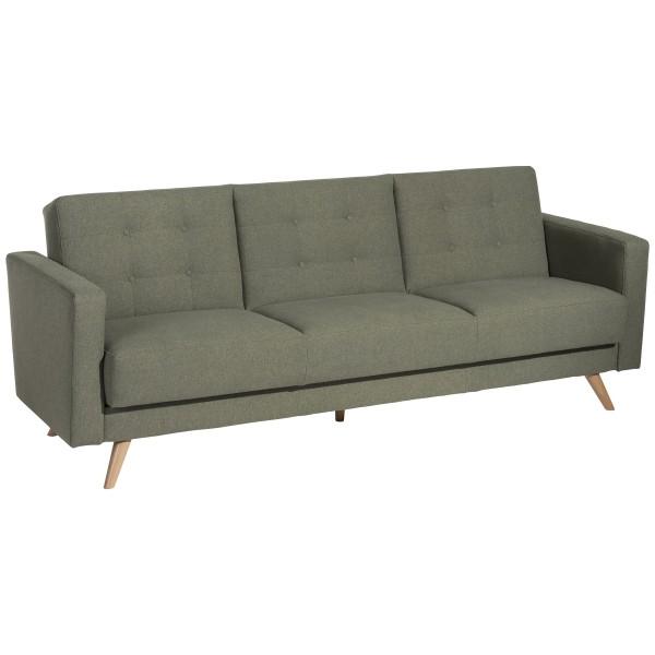 Sofa 3-Sitzer mit Bettfunktion Julian Microfaser in Filzoptik